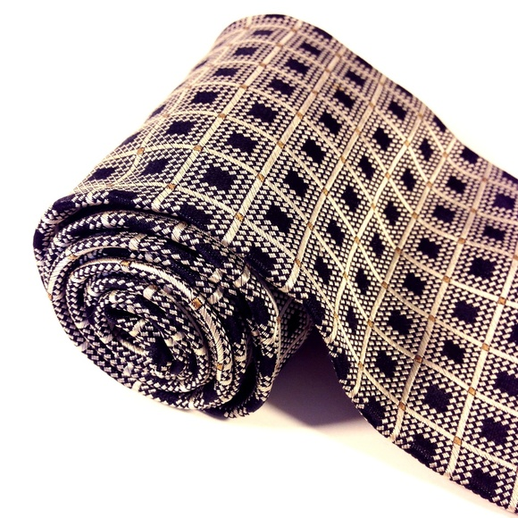 "Valerio Garati Other - VALERIO GARATI 100% Silk Men's Checkers Tie 4""x58"""